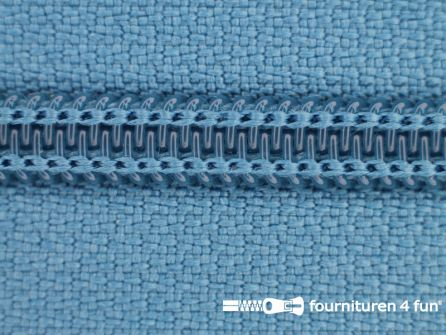 Deelbare spiraal rits nylon 5mm licht jeans blauw