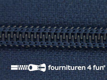 Deelbare spiraal rits nylon 5mm donker koningsblauw