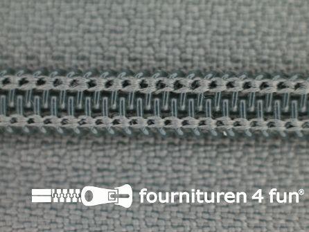 Deelbare spiraal rits nylon 5mm muisgrijs