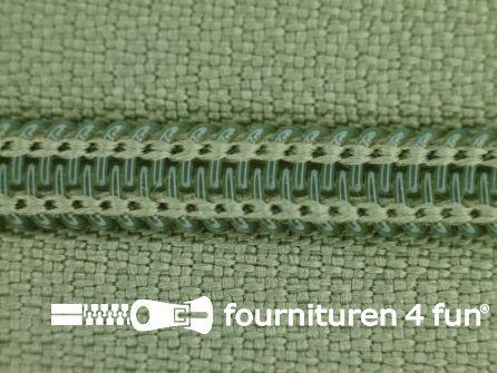 Deelbare spiraal rits nylon 5mm safari groen