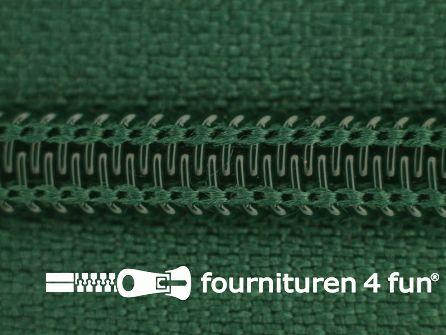 Deelbare spiraal rits 6mm met 2 schuivers flessen groen