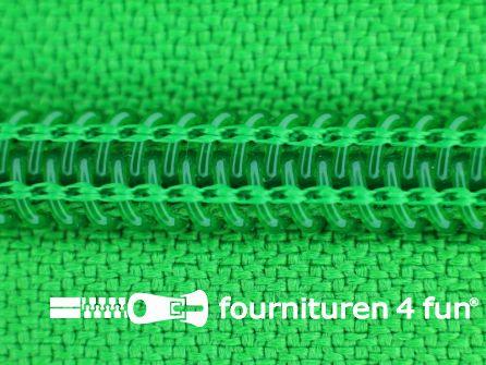 Deelbare spiraal rits nylon 5mm fel groen