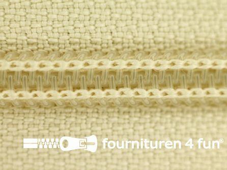 Deelbare spiraal rits nylon 6mm ecru