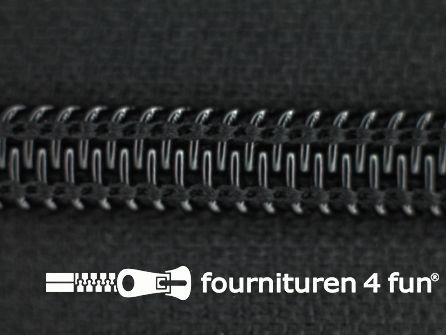 Deelbare spiraal rits nylon 6mm zwart