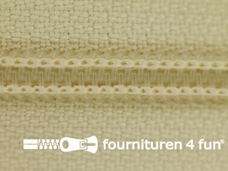 Deelbare spiraal rits nylon 6mmx240cm ecru