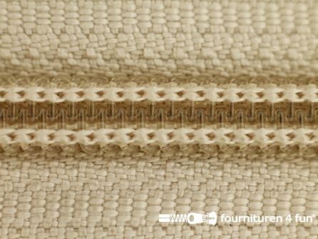 Deelbare spiraal rits nylon 6mmx240cm ecru - beige