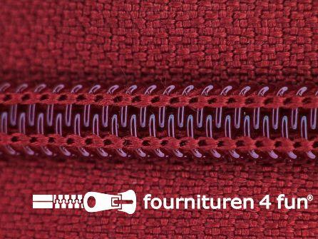 Deelbare spiraal rits nylon 6mmx240cm wijn rood