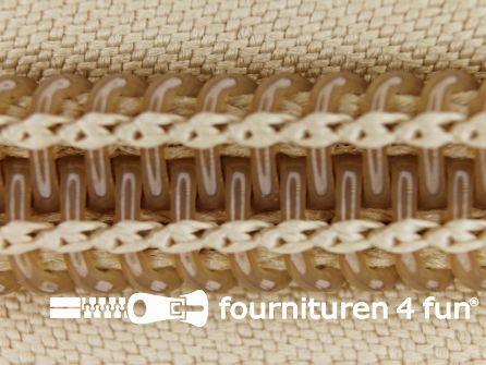 Deelbare tent rits nylon 10mm beige