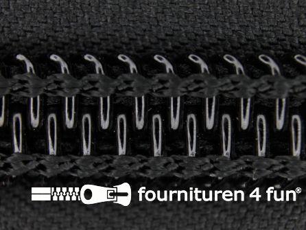 Deelbare tent rits nylon 10mm zwart