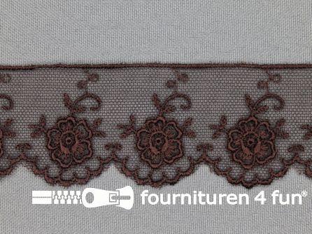 Valenciennes kant 35mm donker bruin