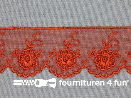 Valenciennes kant 35mm oranje