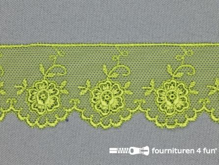 Valenciennes kant 35mm lime groen