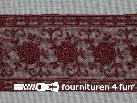 Valenciennes kant 50mm bordeaux rood