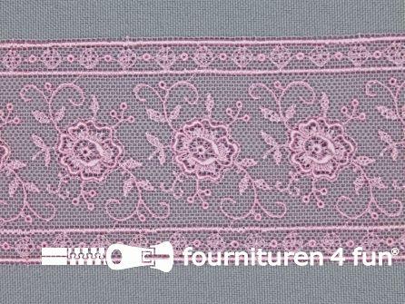 Valenciennes kant 50mm licht roze