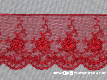 Valenciennes kant 60mm rood