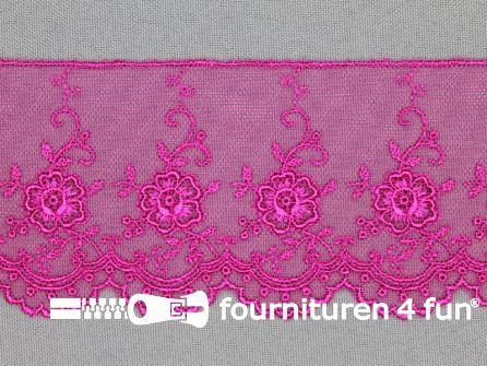 Valenciennes kant 60mm fuchsia roze