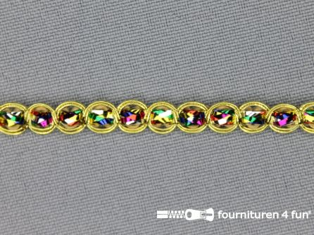 Goud band 7mm multicolor