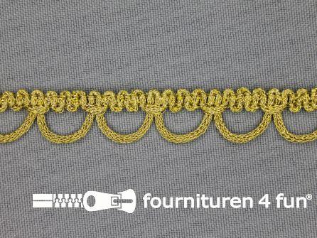 Goud band met knoopsgatenlus 12mm