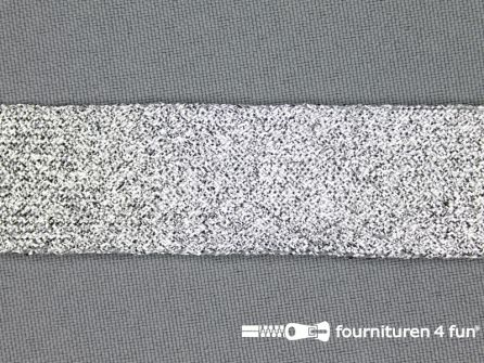 Zilver band 24mm lurex zilver