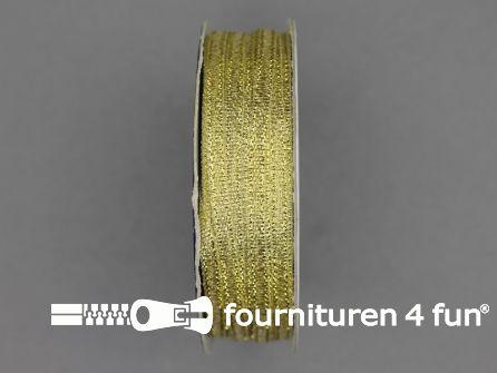 Goud lint 3mm 50 meter