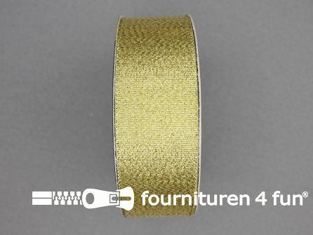 Goud lint 32mm 25 meter