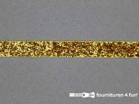 Fluweel lint 10mm goud