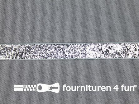 Fluweel lint 10mm zilver