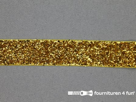 Fluweel lint 15mm goud