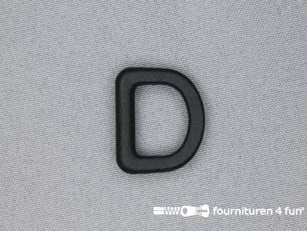 D-ring 20mm kunststof zwart
