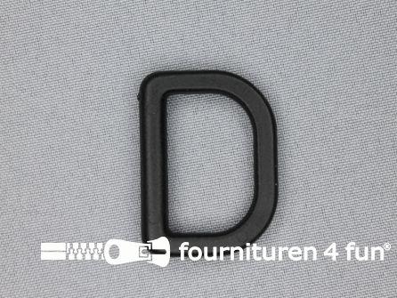 D-ring 30mm kunststof zwart