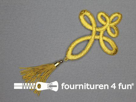 Barok applicatie 75x160mm kwast goud