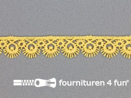 Nylon broderie 15mm licht geel