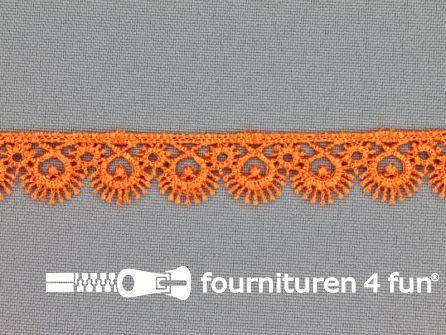 Nylon broderie 15mm oranje