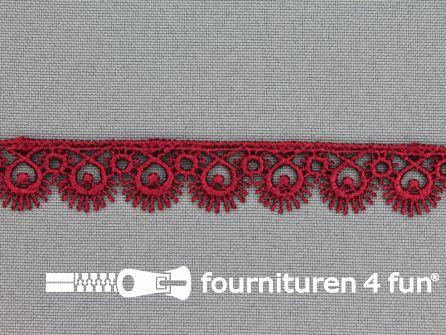 Nylon broderie 15mm bordeaux rood