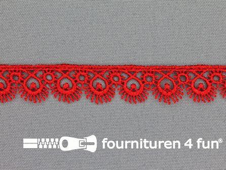 Nylon broderie 15mm rood