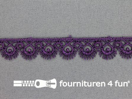 Nylon broderie 15mm donker paars