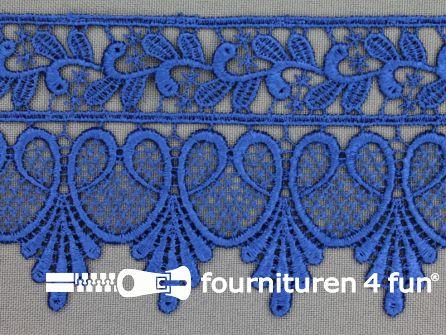Nylon broderie 75mm kobalt blauw