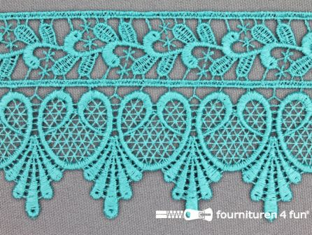 Nylon broderie 75mm mint - licht turquoise