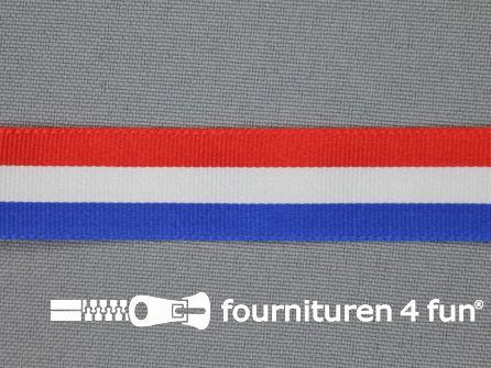 Deco lint 18mm rood - wit - blauw