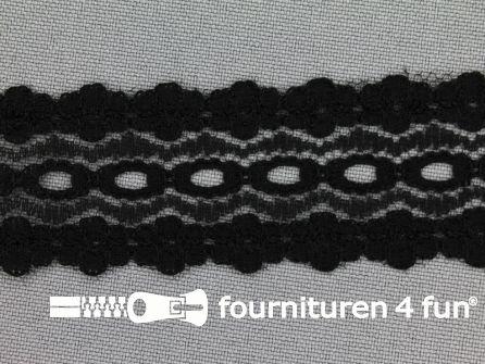 Nylon kant entredeux 28mm zwart