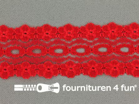 Nylon kant entredeux 28mm rood