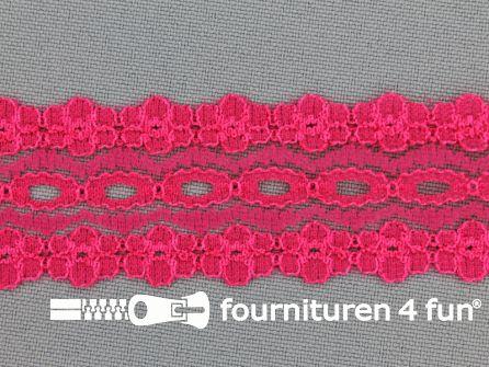 Nylon kant 28mm fuchsia roze