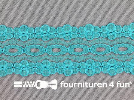 Nylon kant 28mm aqua blauw