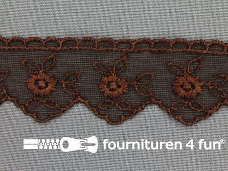 Nylon kant 30mm donker bruin