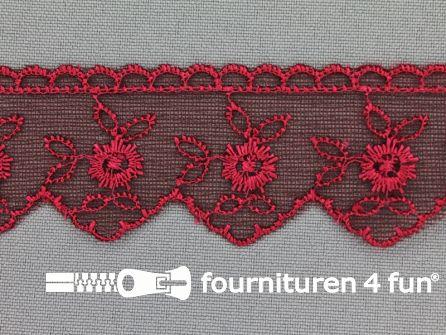 Nylon kant 30mm bordeaux rood