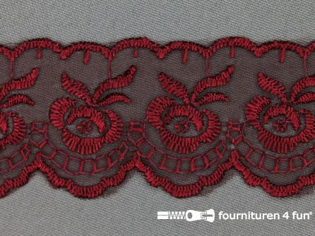 Nylon kant 42mm bordeaux rood