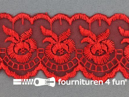 Nylon kant 42mm rood