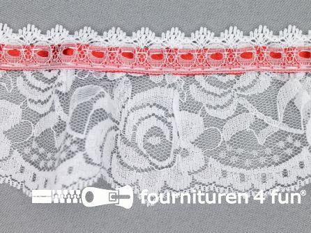 Nylon kant 62mm wit - rood
