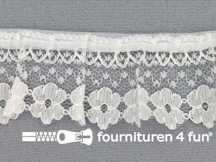 Nylon plisse kant 35mm wit