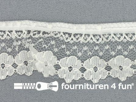 Nylon plisse kant 35mm ecru